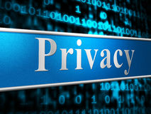 Private Privacy Indicates Secrecy Advertisement And Forbidden Royalty Free Stock Image