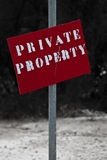 Private Property. Painted wooden sign Private Property Stock Image