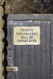 Private property Stock Photos