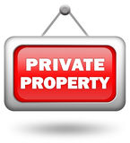 Private property Stock Photography