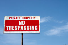Private Property Royalty Free Stock Photo