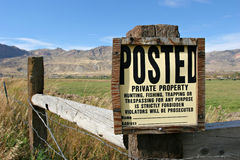 Private property Royalty Free Stock Photos