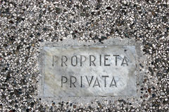 Private property Stock Images