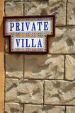 Private property. The message on a wall about a private property Stock Photos
