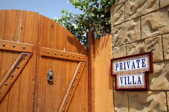 Private property. The message on a wall about a private property Stock Photography