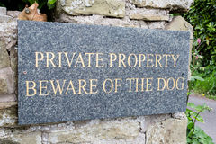 Private Property Royalty Free Stock Image
