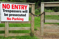 Private Property Gate Royalty Free Stock Image