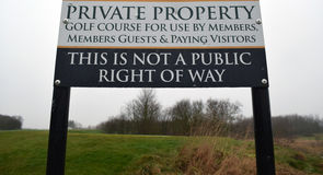 Private Property Golf Course Sign Royalty Free Stock Photo
