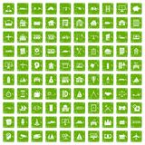 100 private property icons set grunge green. 100 private property icons set in grunge style green color isolated on white background vector illustration stock illustration