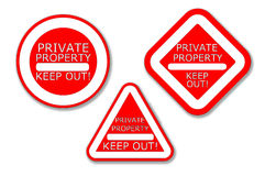 Private Property - Keep out!. Private Property No Entry Sign Stock Photos