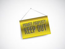 Private property keep out sign banner illustration Royalty Free Stock Photography