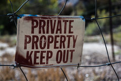 Private Property, Keep Out Stock Photo