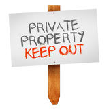 Private property, keep out Royalty Free Stock Images