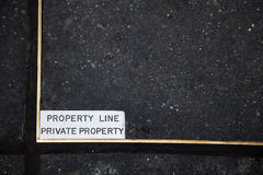 Private property line Royalty Free Stock Image