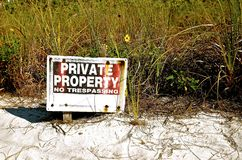 Private Property and No Trespassing sign Stock Photo