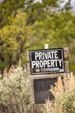 Private Property. No trespassing. Stock Image