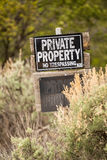 Private Property. No trespassing. Royalty Free Stock Images