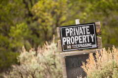 Private Property. No trespassing. Stock Photo