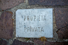 Private property Royalty Free Stock Images