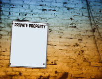 Private Property Plate Stock Image