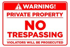 Free Private Property Prohibition Sign Royalty Free Stock Images - 201809459