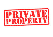 PRIVATE PROPERTY. Rubber Stamp over a white background Stock Image