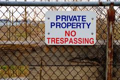 Private Property Stock Image