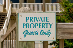 Private property sign. Sign restricting the public from entering private property Royalty Free Stock Images