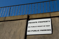 Private property sign. Stock Photo
