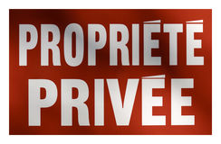Private Property sign in French Stock Photos