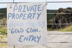 Private Property Sign Royalty Free Stock Images