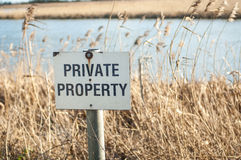 Private property sign Royalty Free Stock Photo
