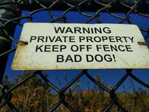 Private property sign Royalty Free Stock Photos