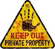 Private property sign Stock Photography