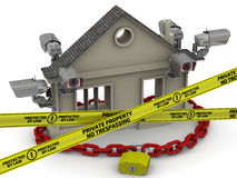 Private property under protected. The concept Stock Photography