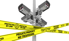 Private property under protected. The concept Stock Image