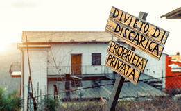 Private property Stock Photo