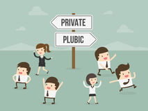 Private or Public Royalty Free Stock Image