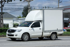 Private Refrigerated container Pickup truck. Stock Image