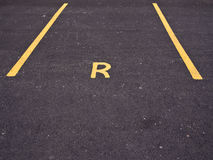 Private Reserved Car Parking Bay Stock Photo