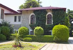 Private residence. The southern house with a court yard Royalty Free Stock Image