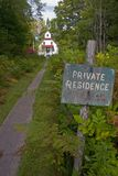 Private Residence. This is an historic house located in Door County, Wisconsin that was used with a lighthouse to guide ships on Lake Michigan Royalty Free Stock Photography