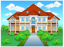 Private residence on hill royalty free illustration