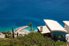 Private residence villa with Aegean Sea view Stock Image