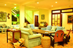 Private Residence VIP Resort living room in Negros Oriental, Philippines stock image