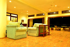 Private Residence VIP Resort living room in Negros Oriental, Philippines royalty free stock image