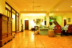 Private Residence VIP Resort living room in Negros Oriental, Philippines stock photography