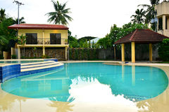 Private Residence VIP Resort swimming pool in Negros Oriental, Philippines Stock Photo