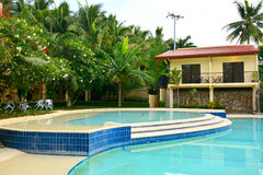 Private Residence VIP Resort swimming pool in Negros Oriental, Philippines Royalty Free Stock Photo