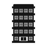 Private residential cottage house flat icon Stock Photos